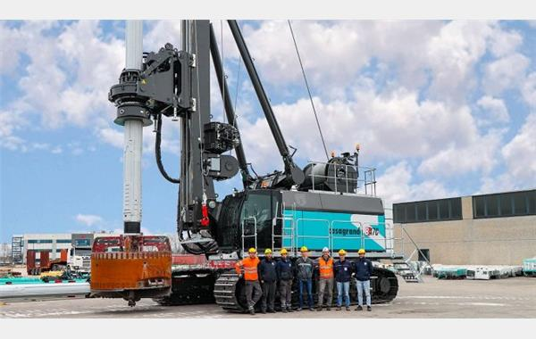 New B470XP-2, Casagrande's largest ever built piling rig