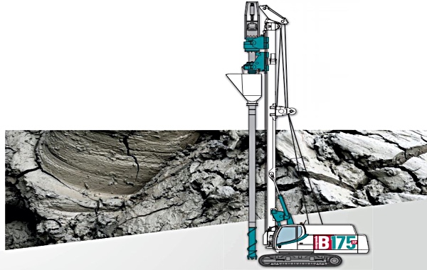 Casagrande Develop Non-Vibration Stone Column Piling Machine